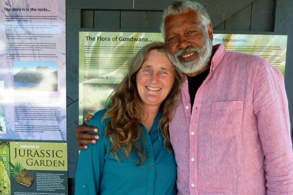 Tonia Cochran and Ernie Dingo